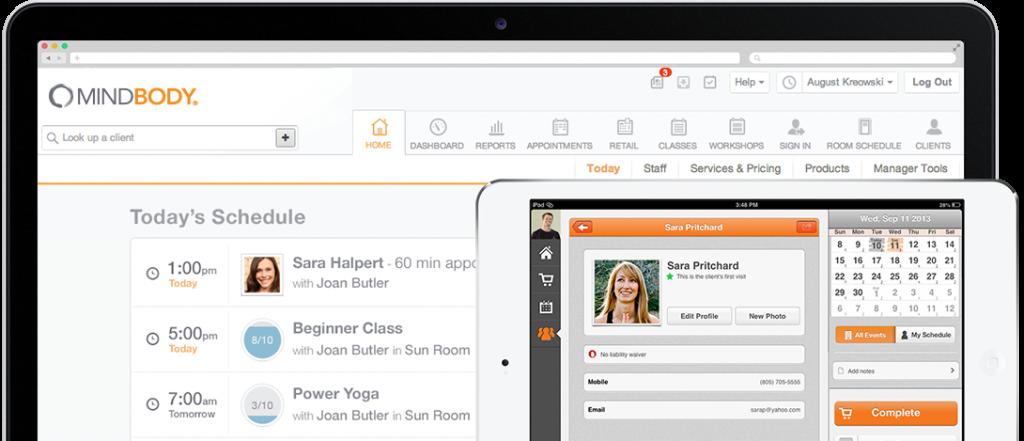 Mindbody Yoga Studio Software