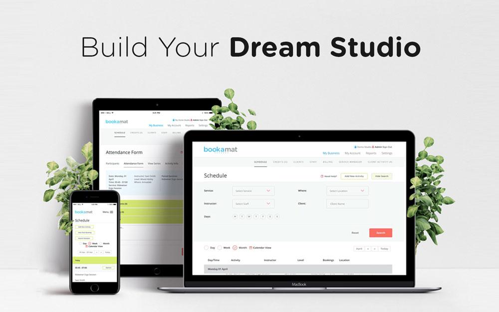 Bookamat Yoga and Pilates Studio Software