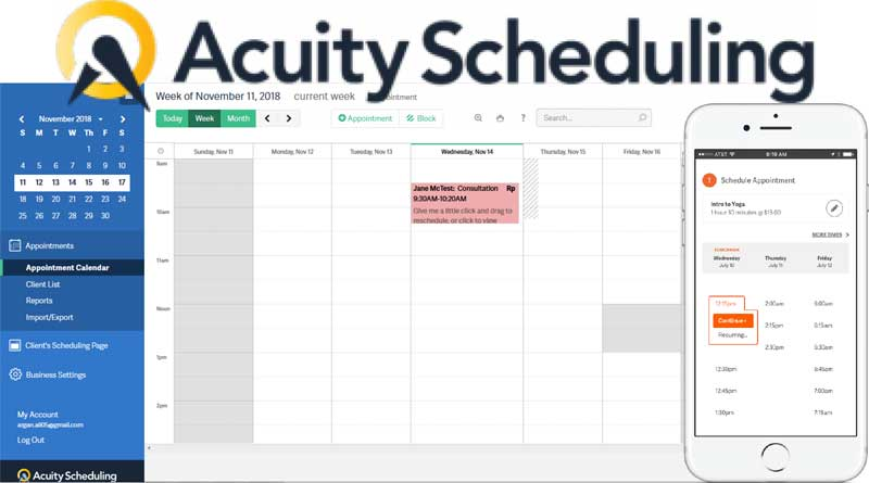Acuity Scheduling & Online Bookings