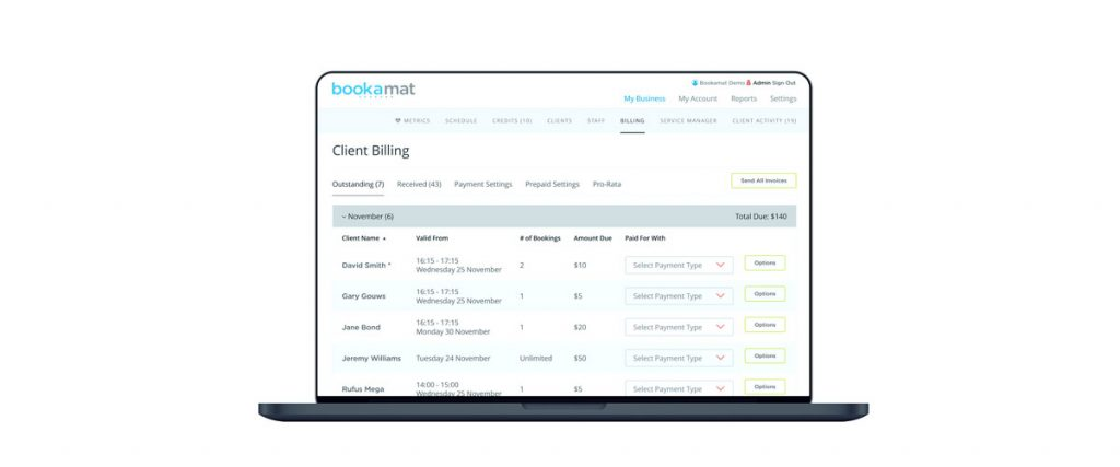 Bookamat bookings for friends & family members increases sales!