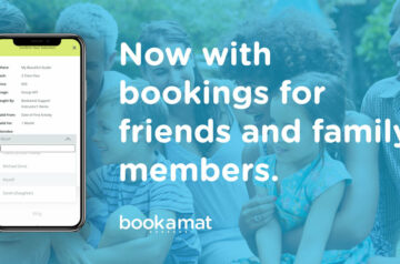 Bookamat supports bookings for friends and family members